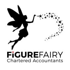 Logo Design Plymouth - Figure Fairy White Logo - Web Design and SEO Company