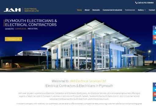 Website design in Plymouth JAH website