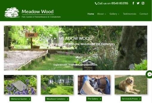 Website design in Plymouth Meadow Wood website