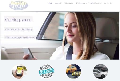 Recent Work - Ridgecabs Taxis Plympton Website