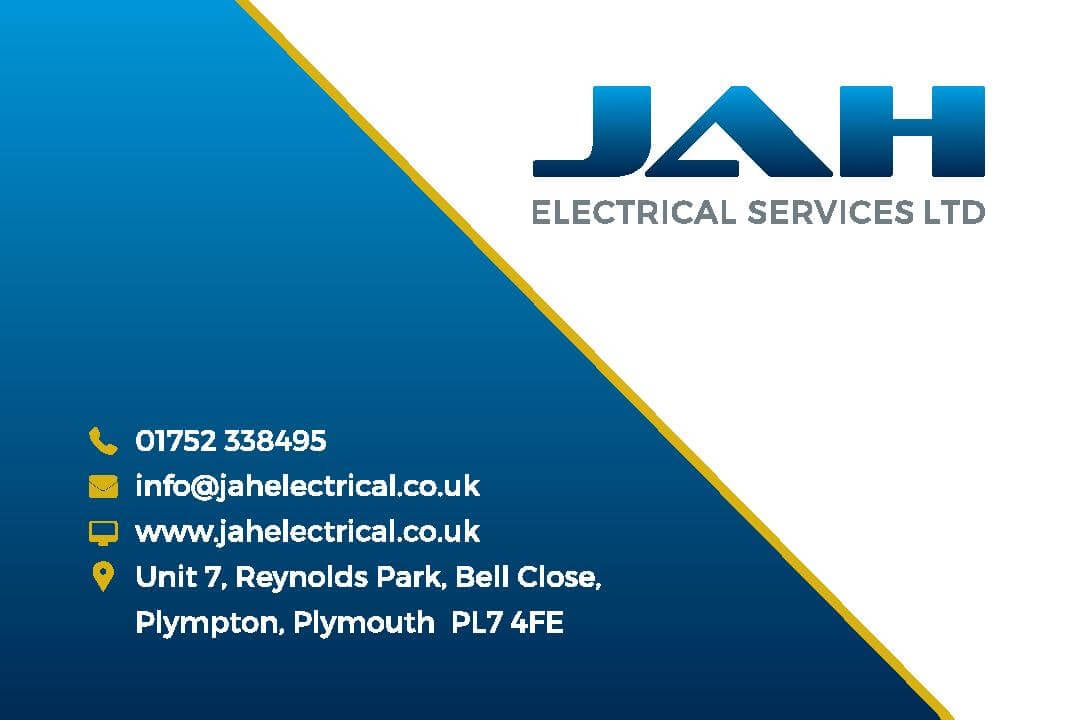 Business Stationery Design Plymouth - JAH Business Card Front - Web Design and SEO Company