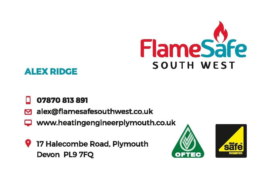 Business Stationery Design Plymouth - Flamesafe Business Card Front - Web Design and SEO Company