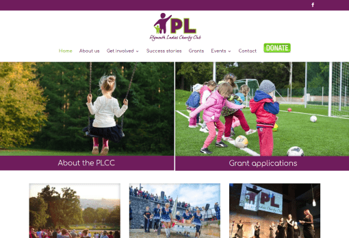 Recent Work - Plymouth Ladies Charity Club or PLCC Website