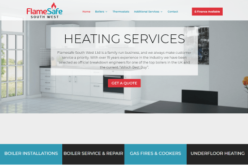Recent Work - Flamesafe South West, Plymouth - New Website