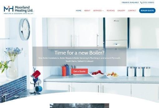 recent work plumbing and heating website design moorland heating plymouth-min