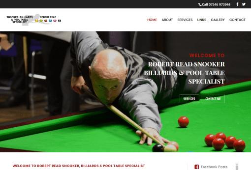 Recent Work - Rob Read Snooker Yorkshire Website