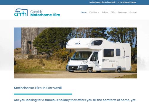Recent Work - Cornish Motorhome Hire, Upton Cross, near Liskeard, Cornwall - New website