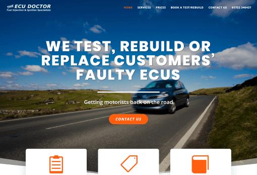 Recent Work - ECU Doctor, Colebrook, Plymouth - New Website