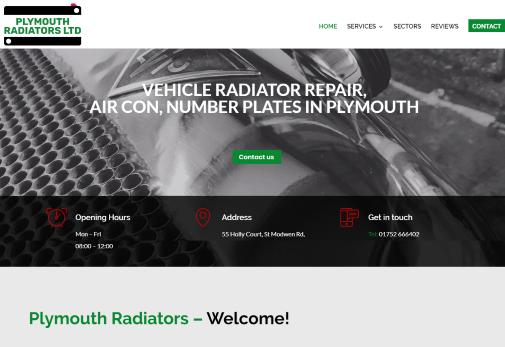 Recent Work - Plymouth Radiators in Plympton - New Website