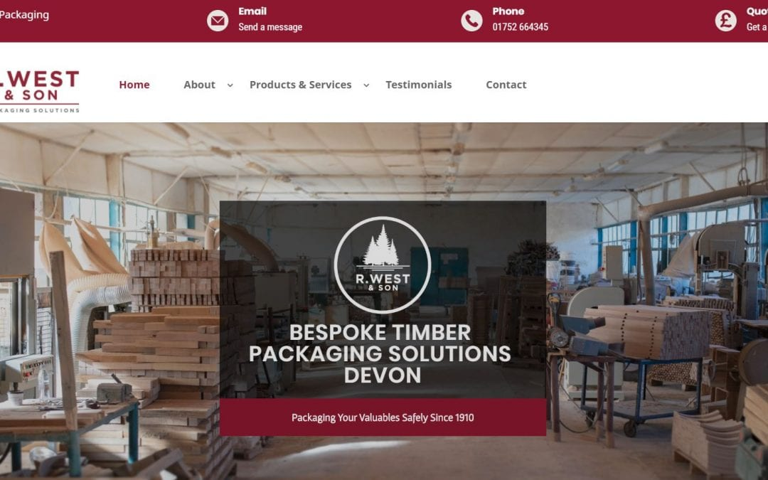 New Website Go Live: R. West & Son