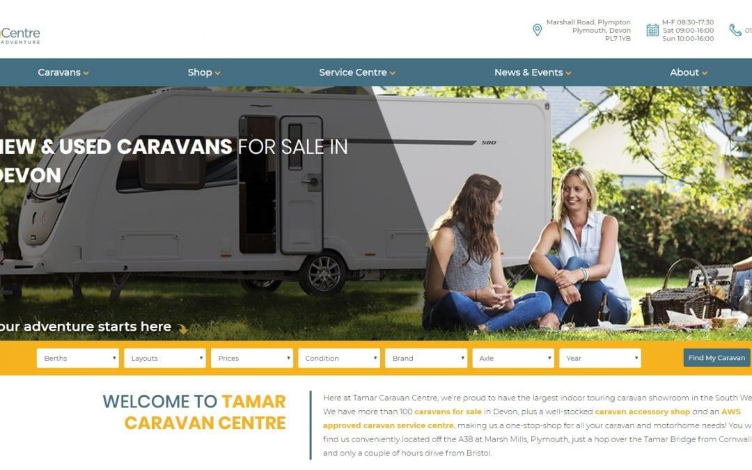 New Website Go Live: Tamar Caravan Centre