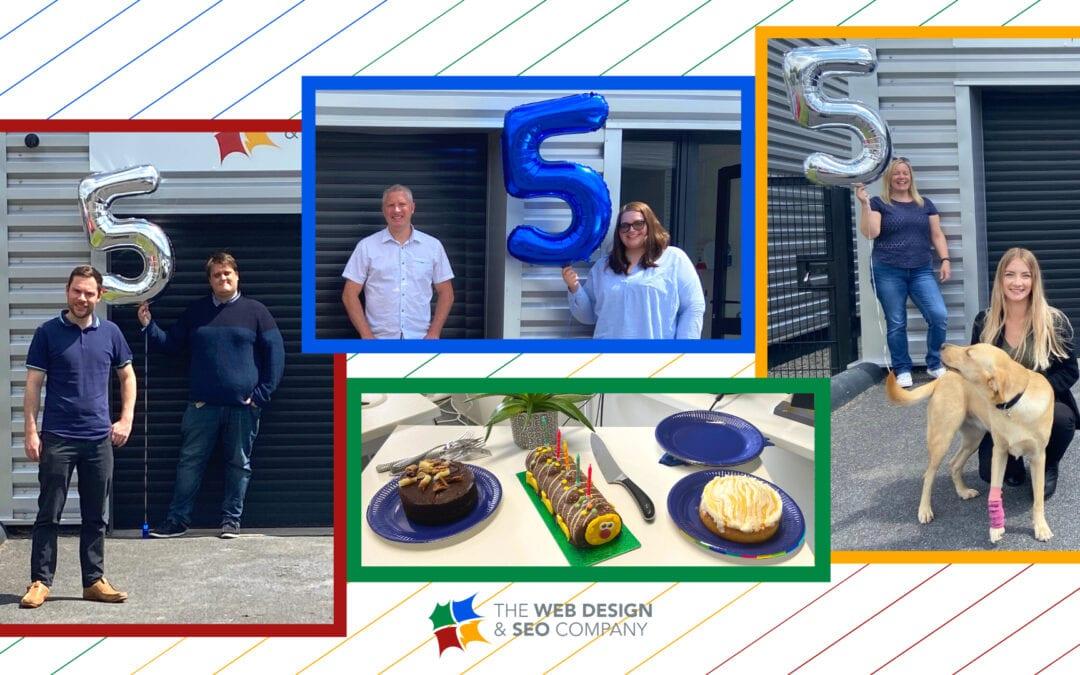 Celebrating The Web Design & SEO Company's 5th Birthday