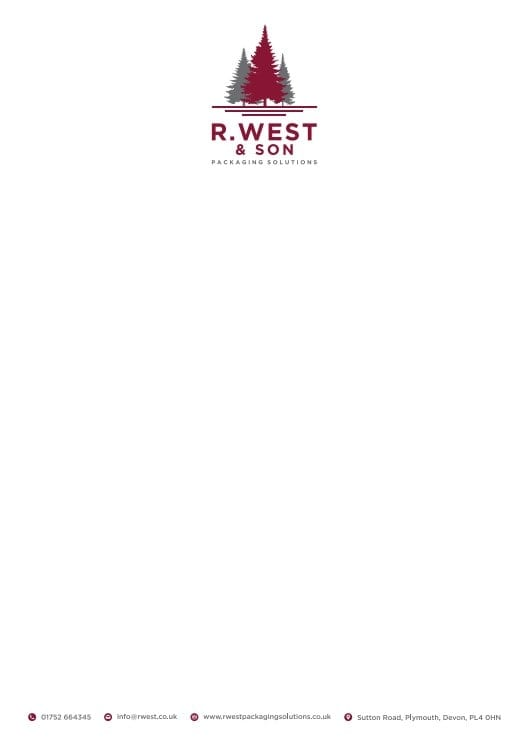 Business Stationery Design Plymouth - R West LH - Web Design and SEO Company
