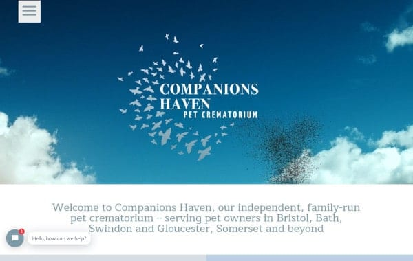 Website Design and Development - An image of the Companions Haven homepage - Web Design and SEO Company