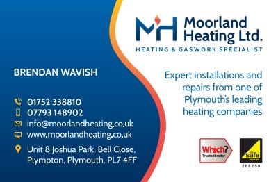 Business Stationery Design Plymouth - BW Moorland Heating Front - Web Design and SEO Company