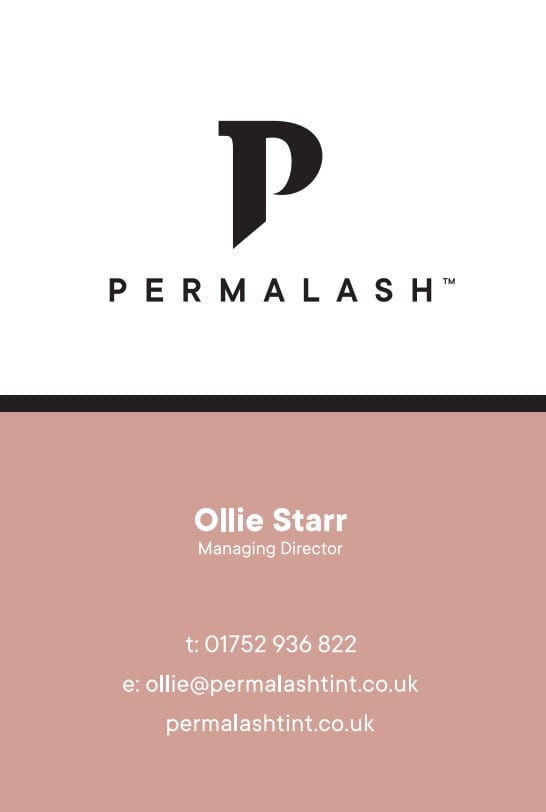 Business Stationery Design Plymouth - OS Permalash Front - Web Design and SEO Company