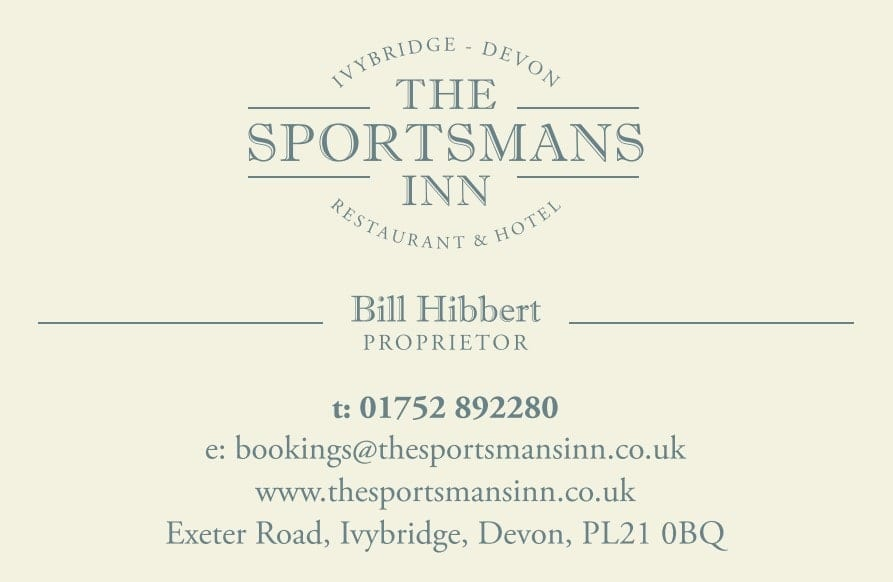 Business Stationery Design Plymouth - Sportsmans Inn Front - Web Design and SEO Company