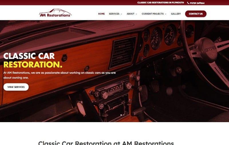 Web Design Plymouth - AM Restorations - Web Design and SEO Company