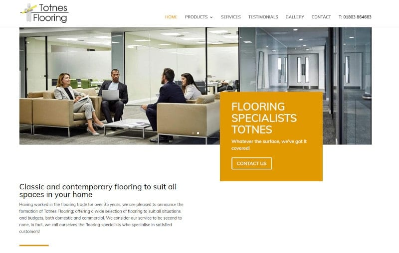 Web Design Plymouth - Totnes Flooring - Web Design and SEO Company