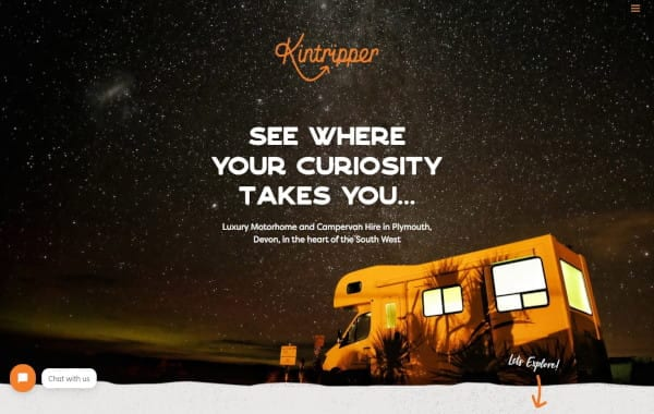 Website Design - An image of the Kintripper website homepage - Web Design and SEO Company