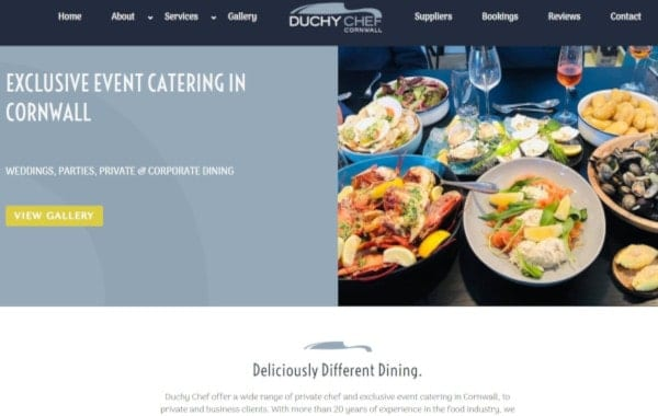 Website Design Plymouth - Duchy Chef - Web Design and SEO Company