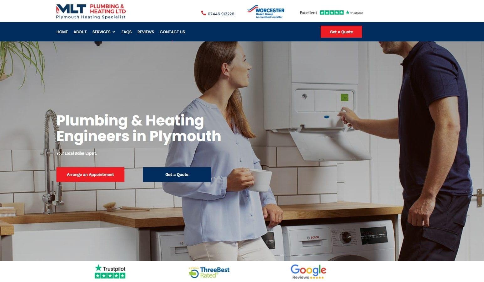 Grow My Plumbing Business MLT Plumbing & Heating Ltd Website