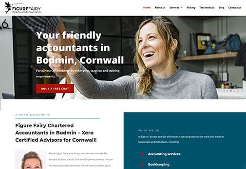 Recent Work - Figure Fairy Accountants, Bodmin - Website Redesign