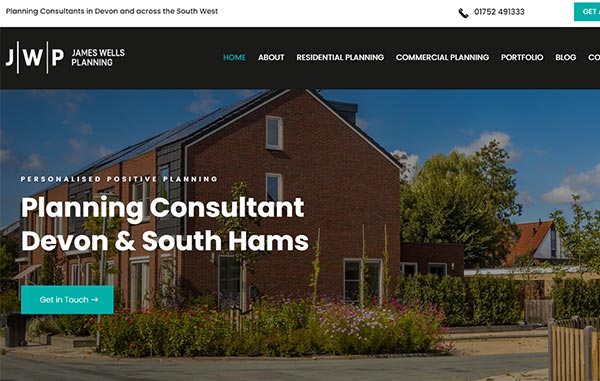 Website Design and Development - An image of the The Una Group homepage - Web Design and SEO Company