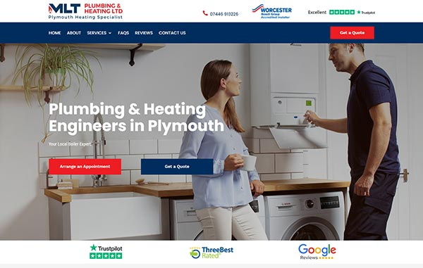 Recent-Work---MLT-Plumbing-and-Heating---Web-Design-and-SEO-Company-Limited