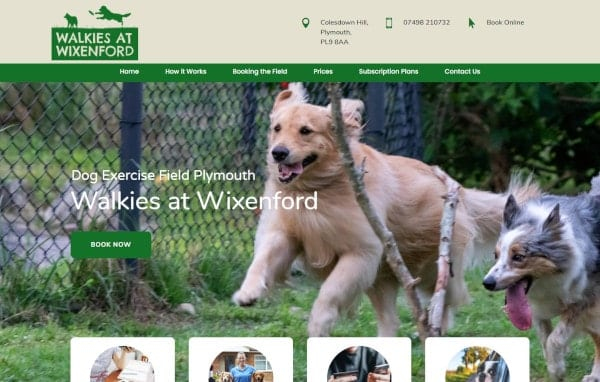 Website Design and Development - An image of the Walkies at Wixenford homepage - Web Design and SEO Company