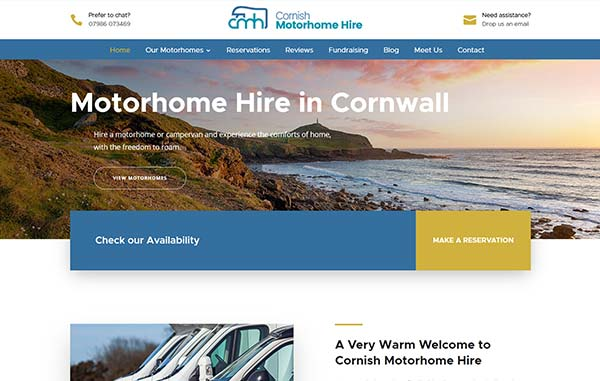 Recent-Work---Cornish-Motorhome-Hire---Web-Design-and-SEO-Company-Limited